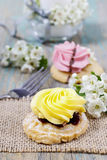 Fairy yellow cake Royalty Free Stock Images