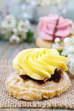Fairy yellow cake Stock Photo