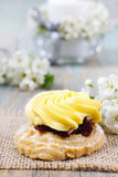 Fairy yellow cake Royalty Free Stock Photography