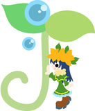 A Fairy of the young leave. The fairy of young leave symbolizing environment and nature Royalty Free Stock Photography