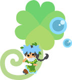 Fairy of the young leave. The fairy of a young leave symbolizing environment and nature Royalty Free Stock Image