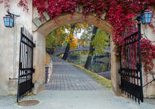 The fairyland in autumn, Europe Royalty Free Stock Images