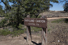 Fairyland Canyon Overlook Sign Stock Photos
