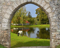 Fairyland no distrito de Sigulda, Latvia Fotografia de Stock Royalty Free