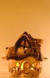 Fairylike chałupa model z świeczki światłem zdjęcia stock