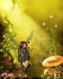 Fairytale. Illustration  of a fairy ,3d render Stock Photos