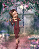 Fairytale. Illustration  of a fairy ,3d render Stock Photography