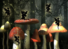 Fairytale. Illustration  of  fairies ,3d render Royalty Free Stock Photos
