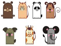 Fairytale animals set Royalty Free Stock Photo