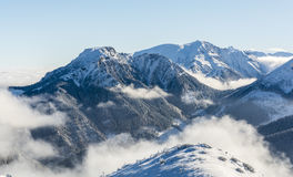 Fairytale atmosphere in the mountains. The fairytale atmosphere of winter in the mountains Stock Image
