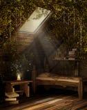 Fairytale attic room royalty free stock photography