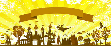 Fairytale banner Royalty Free Stock Photography
