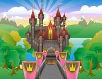 Fairytale Beautiful Castle Royalty Free Illustration
