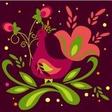 Fairytale bird. Folk drawing style vector illustration Royalty Free Stock Photography
