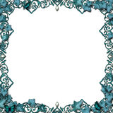 Fairytale border vines flourish isolated Royalty Free Stock Photos