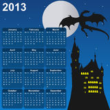 Fairytale calendar for 2013. Square format, for children Stock Images