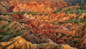 Fairytale Canyon Skazka in Kyrgyzstan, taken in August 2018. Taken in HDR stock images