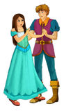 Fairytale cartoon character - illustration for the children Royalty Free Stock Image