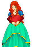 Fairytale cartoon character - illustration for the children Stock Image