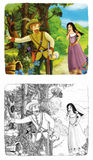 Fairytale cartoon character - illustration for the children Stock Photography