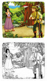 Fairytale cartoon character - illustration for the children Royalty Free Stock Photo