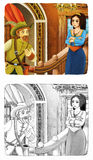 Fairytale cartoon character - illustration for the children Stock Photos