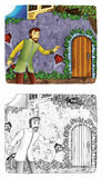 Fairytale cartoon character - illustration for the children Stock Images