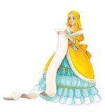 Fairytale cartoon character - princess Stock Photos