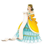 Fairytale cartoon character - princess Stock Images