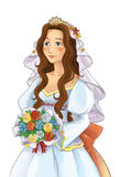 Fairytale cartoon character - princess Stock Photos