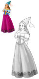Fairytale cartoon character - princess Stock Image