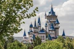 Fairytale Castle Behind Trees in Public Cultural Park, Eskisehir Stock Images