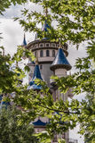 Fairytale Castle Behind Trees in Public Cultural Park, Eskisehir. Fairytale castle behind trees in a public cultural park, Eskisehir Royalty Free Stock Photo
