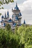 Fairytale Castle Behind Trees in Public Cultural Park, Eskisehir Stock Image