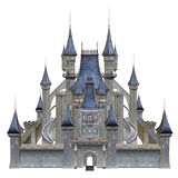 Fairytale castle with blue towers. 3D render of a fairytale castle with blue towers Stock Photography