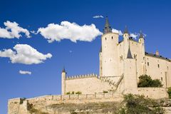 Fairytale Castle and Clouds Royalty Free Stock Photography