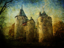 Free Fairytale Castle Coch Stock Images - 55971354