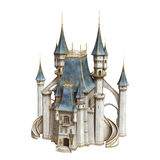Fairytale Castle. 3D digital render of a fairytale castle isolated on white background Royalty Free Stock Image