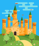 FairyTale castle illustration Stock Photos