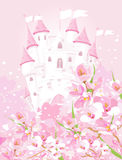 Fairytale castle vector illustration