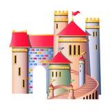 FairyTale castle isolated. On white background vector illustration Stock Photo