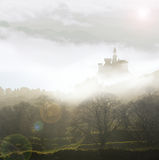 Fairytale castle in mist Stock Image