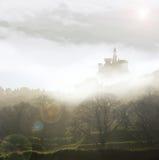 Fairytale castle in mist Stock Image