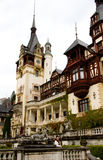 Fairytale Castle Peles, Sinaia, Romania Stock Photo