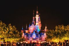 Fairytale castle. Shanghai Disneyland Castle Royalty Free Stock Photography