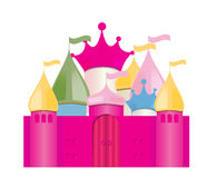 Fairytale Castle. Vector Illustration Royalty Free Stock Image