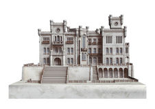 Fairytale Castle on White Royalty Free Stock Image