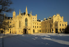 Fairytale castle in winter Royalty Free Stock Photos
