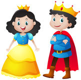 Fairytale characters of king and queen. Illustration Stock Photography