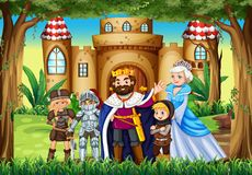 Fairytale characters at the palace. Illustration Stock Images
